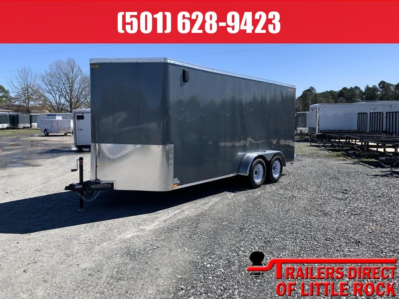 2019 Doolittle Trailer Mfg Bullitt 7x16TA Gray Ramp Door Enclosed Cargo Trailer