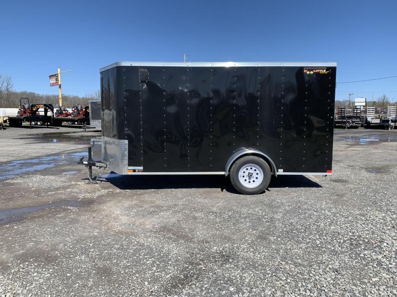 ! 2018 Doolittle Trailer Mfg 6x12SA Black Ramp Door Enclosed Cargo Trailer