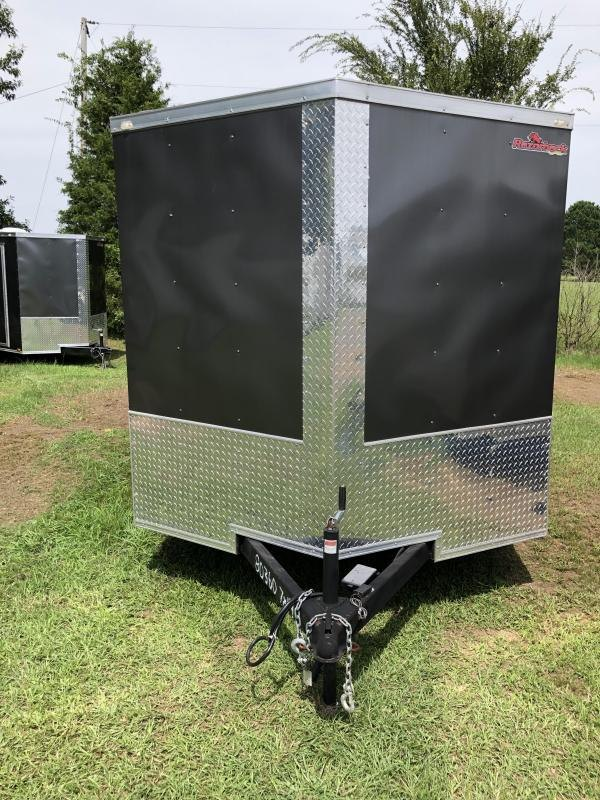 2019 Doolittle Trailer Mfg 2019 DOOLITTLE RAZORBACK 7X14TA Charcoal Barn Door Enclosed Cargo Trailer