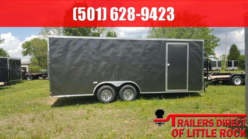 2018 Doolittle Razorback 8.5x20TA3 Charcoal Ramp Door Enclosed Cargo Trailer
