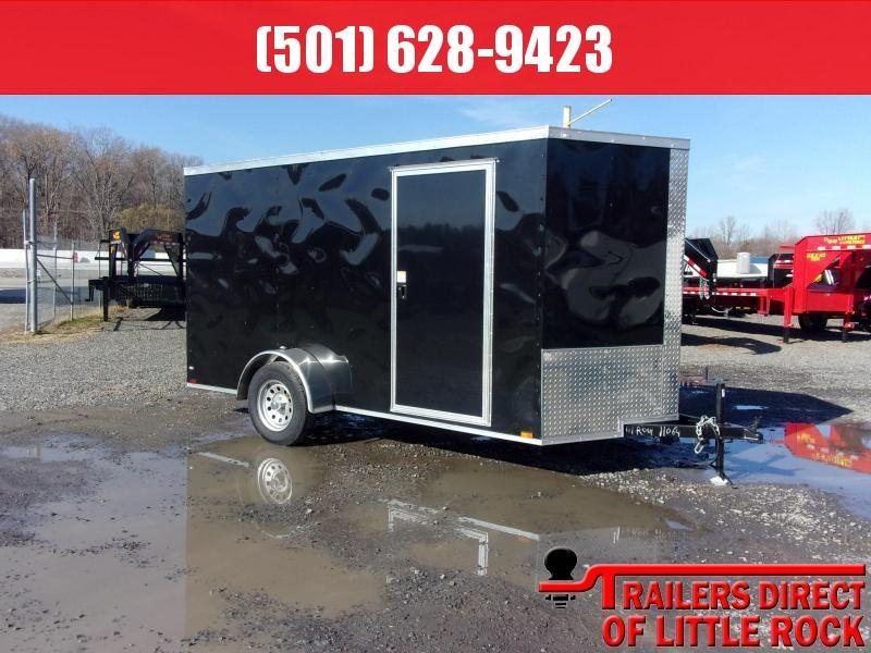 2019 Doolittle Trailer Mfg Razorback 6x12SA Black Ramp Door Enclosed Cargo Trailer