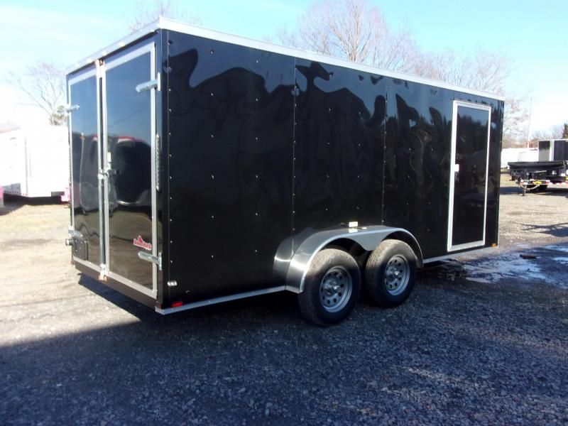 2018 Doolittle Trailer Mfg Razorback 7X16TA Black Barn Door Enclosed Cargo Trailer