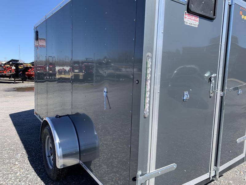 2019 Doolittle Trailer Mfg Bullitt 6x12SA Gray Barn Door Enclosed Cargo Trailer