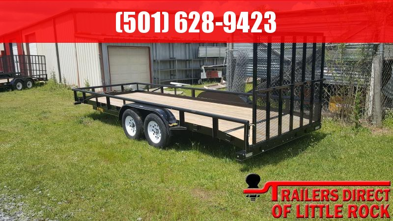 2018 Doolittle Trailer Mfg Pipe Top Utility 77x20 7k Utility Trailer