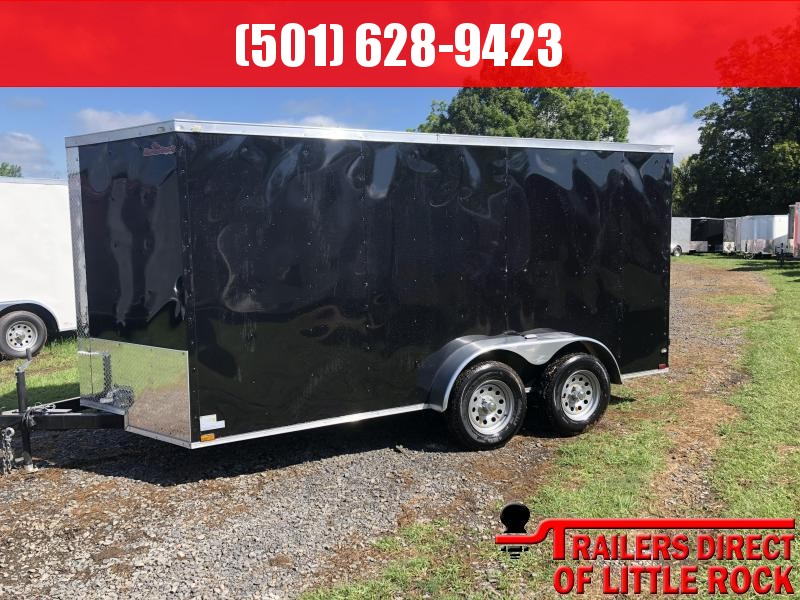 2018 Razorback 7X14TA BLACK RAMP DOOR