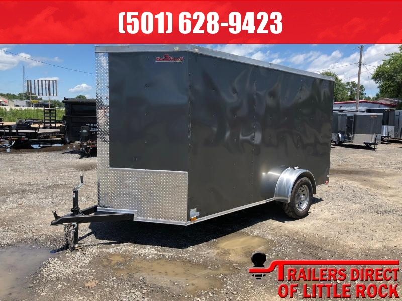 2019 Doolittle Trailer Mfg Razorback 6x12SA Charcoal Ramp Door Enclosed Cargo Trailer