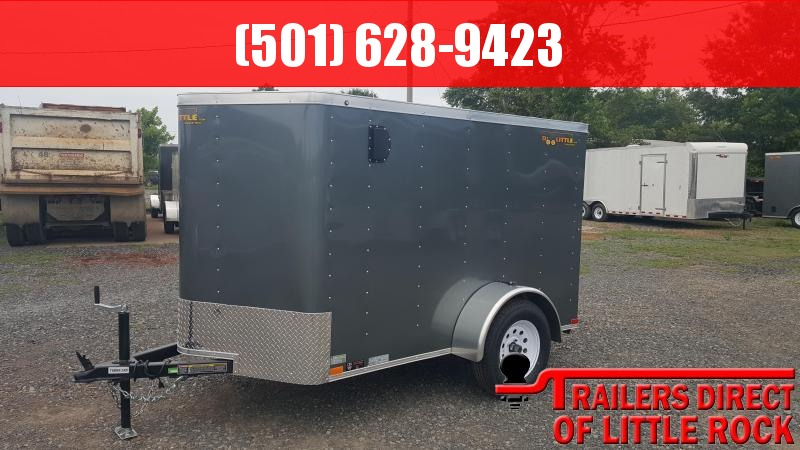 2018 Doolittle Trailer Mfg Bullitt 5x8 Gray Ramp Door Enclosed Cargo Trailer in Ashburn, VA