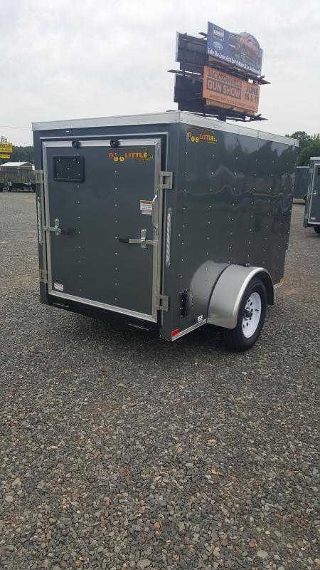2018 Doolittle Trailer Mfg Bullitt 5x8 Gray Ramp Door Enclosed Cargo Trailer