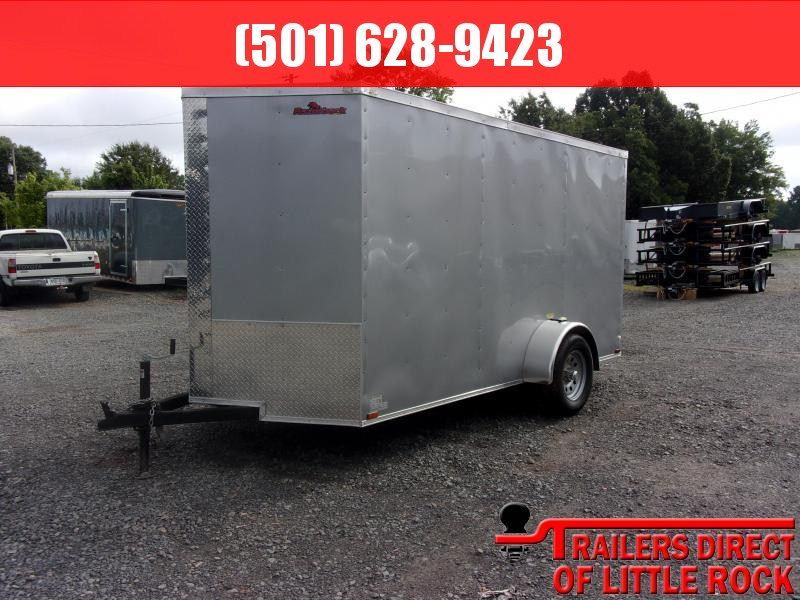 2018 Doolittle Trailer Mfg Razorback 6x12SA Silver Ramp Door Enclosed Cargo Trailer