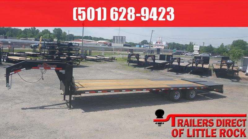 2018 Doolittle Trailer Mfg Razorback 102x32 22k Low Pro Flatdeck Flatbed Trailer