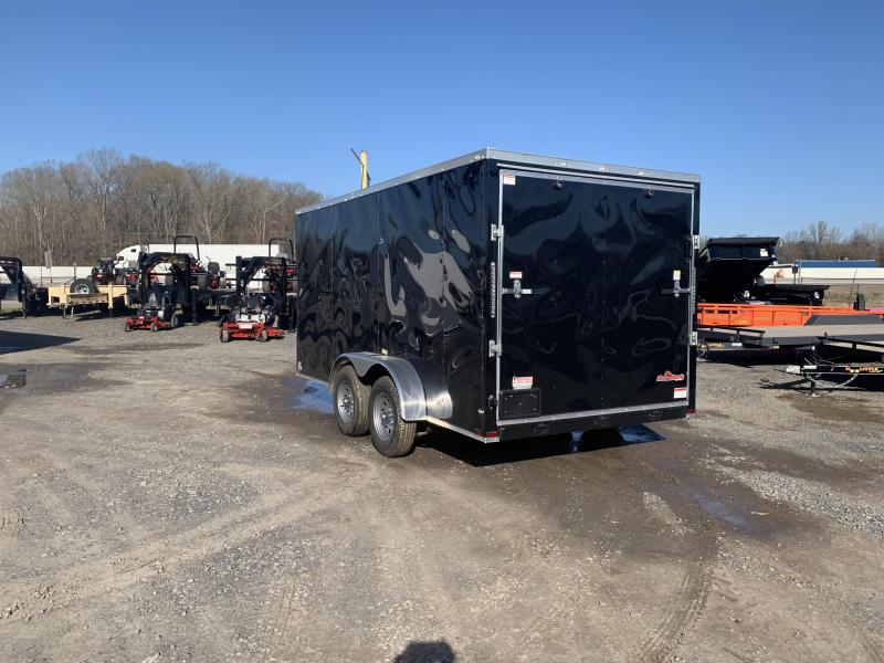 2019 Doolittle Trailer Mfg Razorback 7X16TA Black Ramp Door Enclosed Cargo Trailer