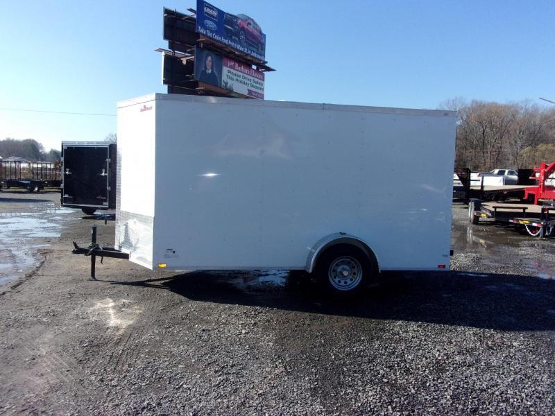 2018 Doolittle Trailer Mfg Razorback 6x12SA White Ramp Door Enclosed Cargo Trailer
