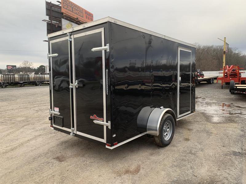 2018 Razorback 6X12SA  BLACK BARN DOOR
