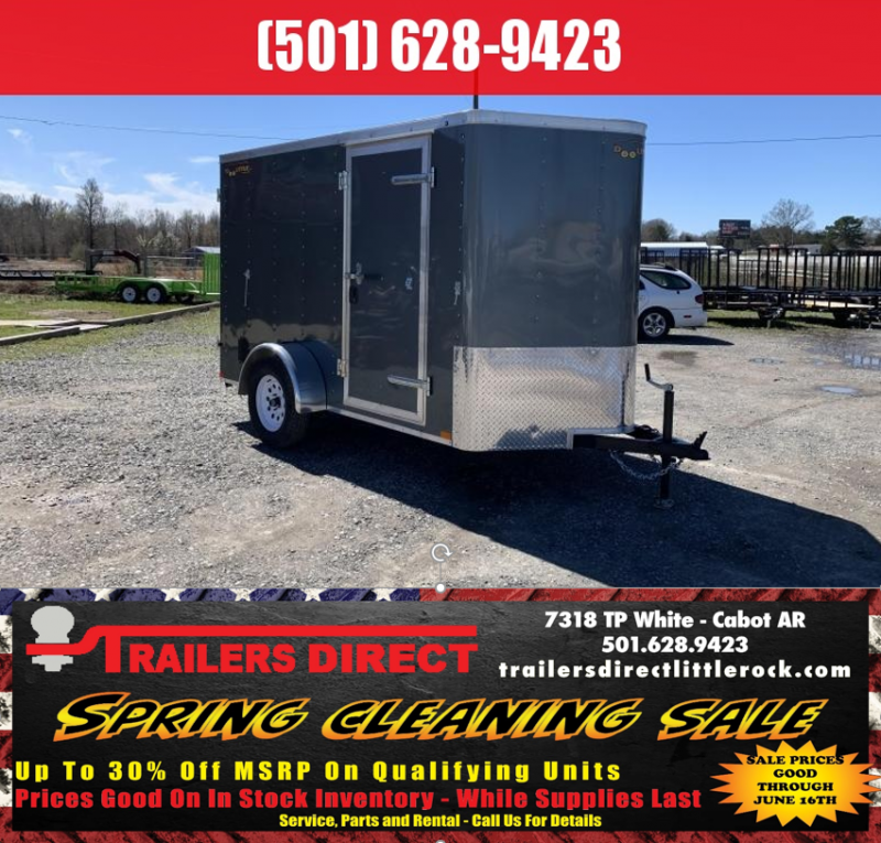 RED TAG SALES EVENT!! 2019 Doolittle Trailer Mfg 6x10SA Gray Ramp Door Enclosed Cargo Trailer