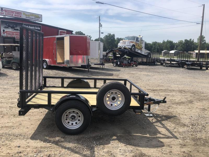 2018 Doolittle Trailer Mfg Utility 66x8 Utility Trailer With Spare Tire and Carrier