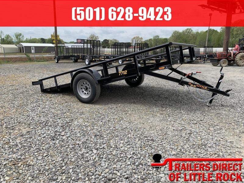 2019 Doolittle Trailer Mfg Pipe Top 77x12 Full Tilt Utility Trailer