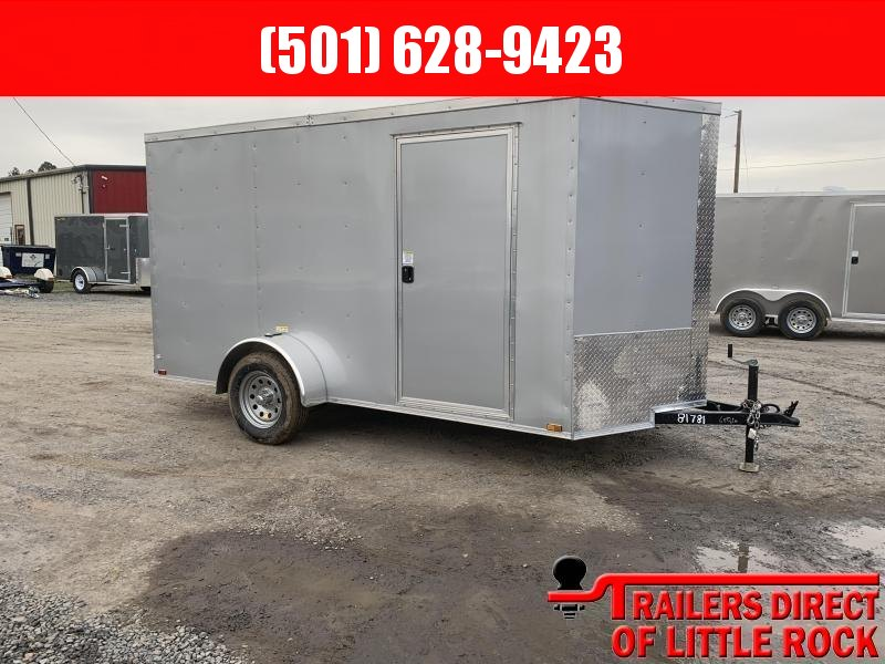 2019 Doolittle Trailer Mfg Razorback 6X12SA Silver Barn Door Enclosed Trailer