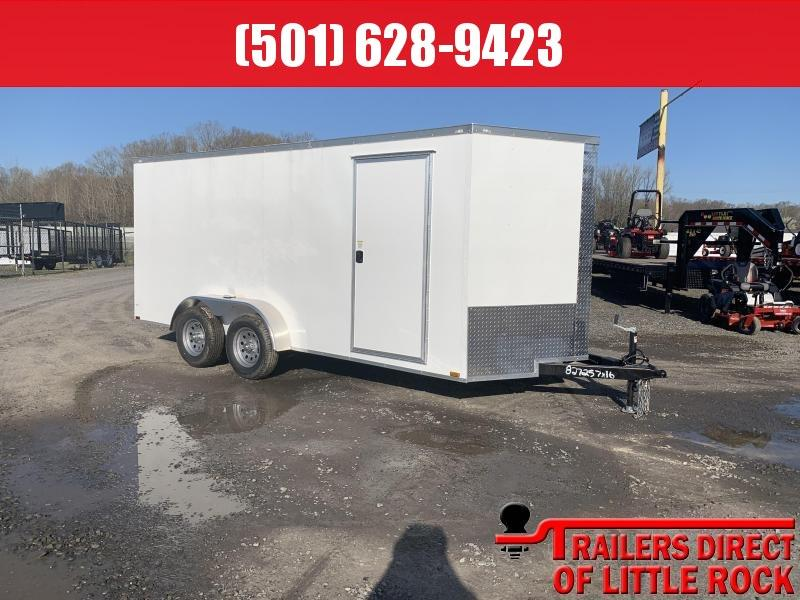 2019 Doolittle Razorback 7X16TA White Ramp Door Enclosed Trailer