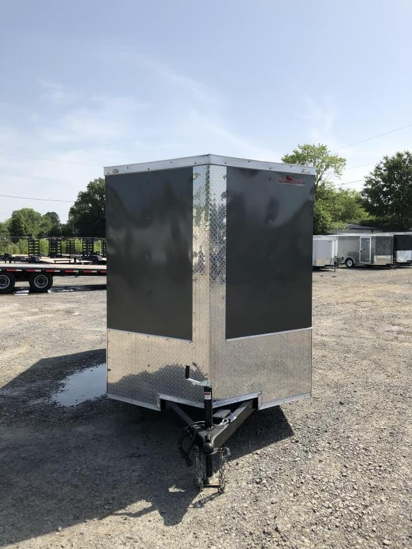 2019 Doolittle Trailer Mfg Razorback 6x12TA Charcoal Ramp Door Enclosed Cargo Trailer