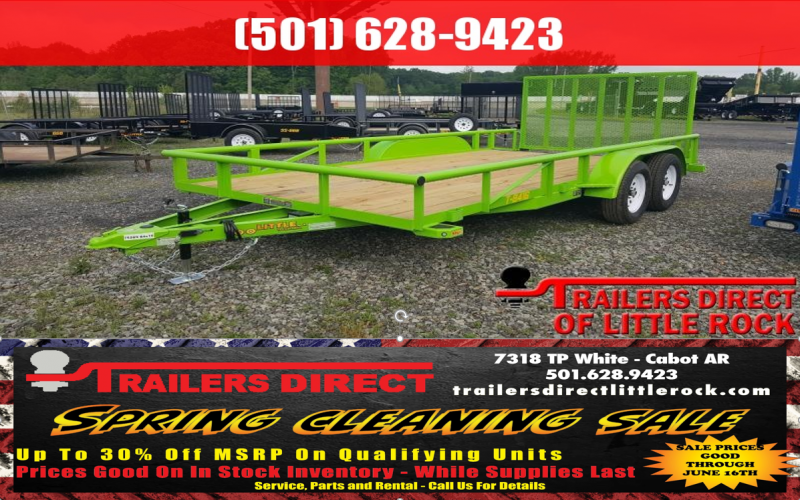 BLOWOUT!! 2018 Doolittle Trailer Mfg Pipe Top 84x16 Utility Trailer in Ashburn, VA