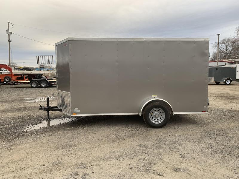 2019 Doolittle Trailer Mfg Razorback 6x12SA Pewter Barn Door Enclosed Cargo Trailer