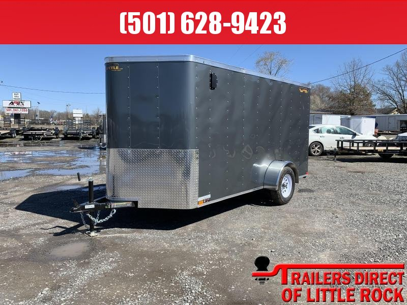 2019 Doolittle Trailer Mfg 6x12SA Gray Ramp Door Enclosed Cargo Trailer