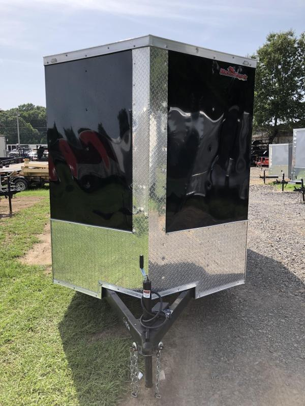 2019 Doolittle Trailer Mfg Razorback 6x12TA Black Ramp Door Enclosed Cargo Trailer