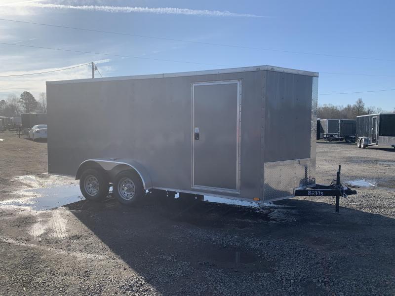 2019 Doolittle Trailer Mfg Razorback 7X16TA Pewter Ramp Door Enclosed Cargo Trailer