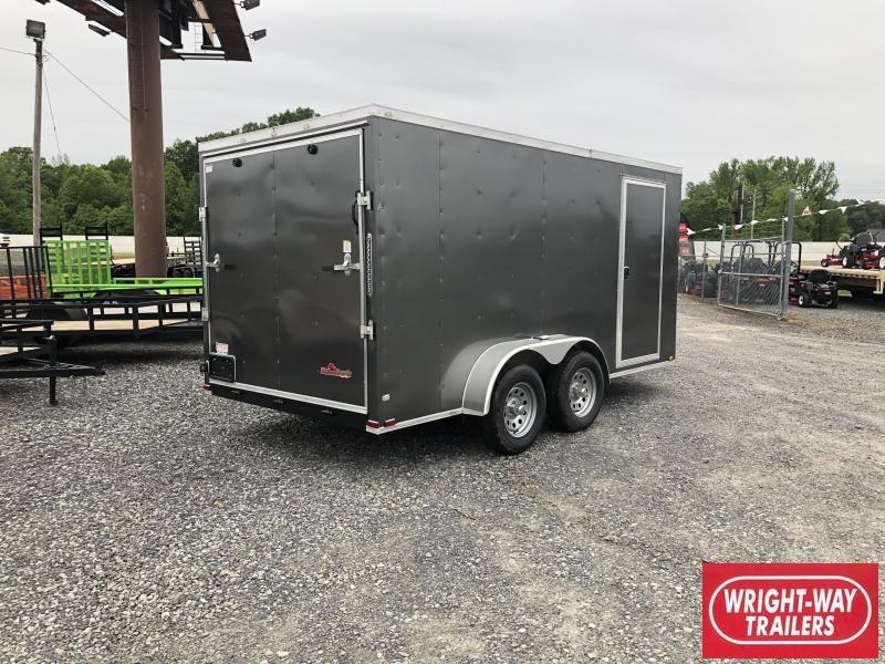 2018 Doolittle Trailer Mfg 2019 DOOLITTLE RAZORBACK 7X14TA Charcoal Ramp Enclosed Cargo Trailer