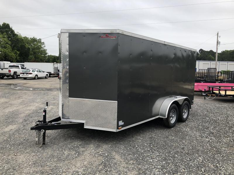 2018 Doolittle Trailer Mfg 2019 DOOLITTLE RAZORBACK 7X14TA Charcoal Ramp Enclosed Cargo Trailer