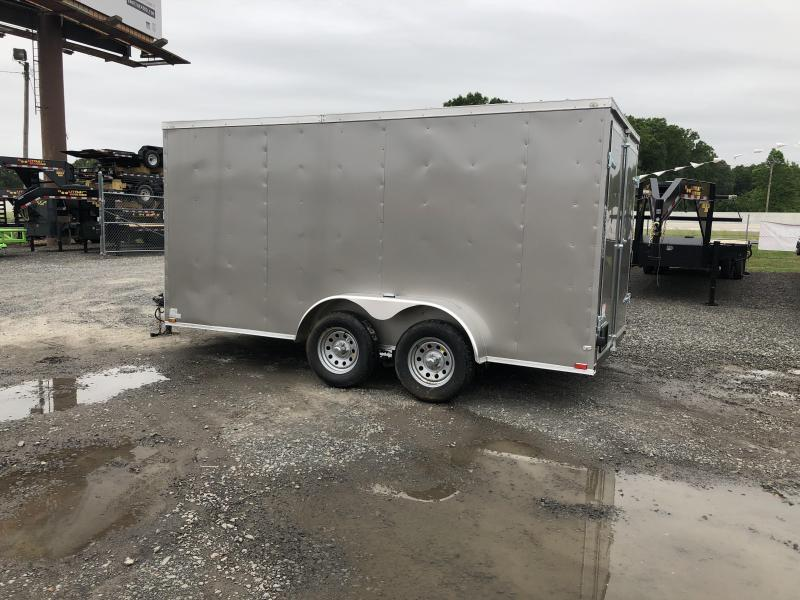 2019 Doolittle Trailer Mfg 2019 DOOLITTLE RAZORBACK 7X14TA Pewter Ramp Door Enclosed Cargo Trailer