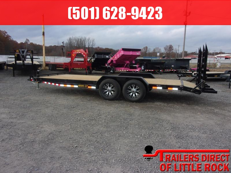 2019 Doolittle Trailer Mfg CF 82x20 14k Flip up Ramps Equipment Trailer in Barton, AR