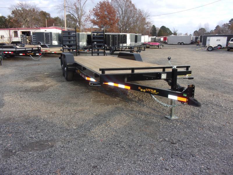 2019 Doolittle Trailer Mfg CF 82x20 14k Flip up Ramps Equipment Trailer