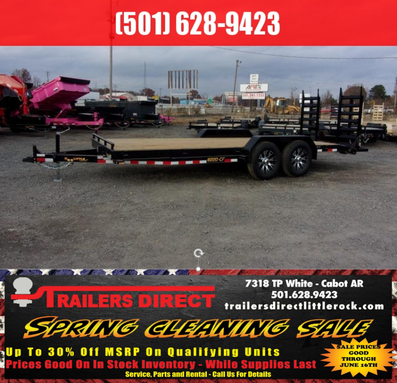 RED TAG SALES EVENT!! 2019 Doolittle Trailer Mfg CF 82x20 14k Flip up Ramps Equipment Trailer