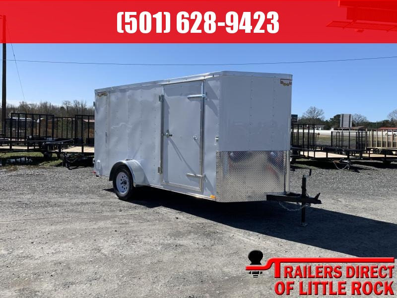 2019 Doolittle Trailer Mfg Bullitt 6x12SA White Barn Door Enclosed Cargo Trailer