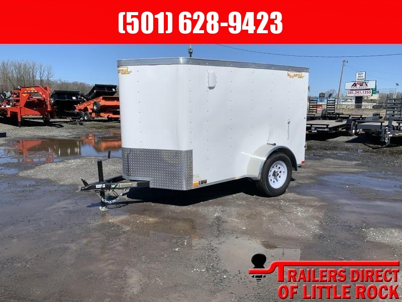 2019 Doolittle Trailer Mfg Bullitt 5x8 White Barn Door Enclosed Cargo Trailer