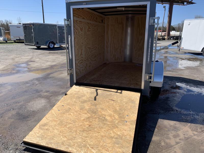 2019 Doolittle Trailer Mfg Bullitt 5x8 Gray Ramp Door Enclosed Cargo Trailer