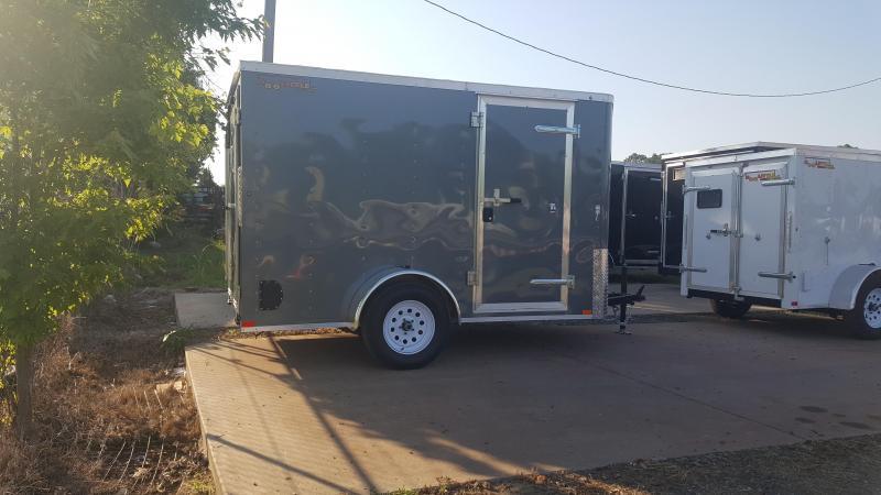 2018 Doolittle Trailer Mfg Bullitt 6x10SA Gray Ramp Door Enclosed Cargo Trailer
