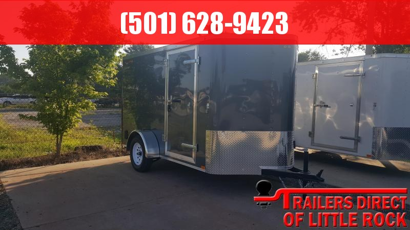 2018 Doolittle Trailer Mfg Bullitt 6x10SA Gray Ramp Door Enclosed Cargo Trailer