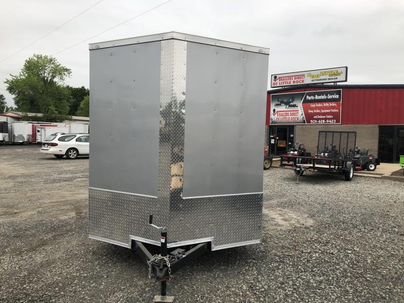 2019 Doolittle Trailer Mfg 2019 DOOLITTLE RAZORBACK 7X14TA Silver Ramp Door Enclosed Cargo Trailer