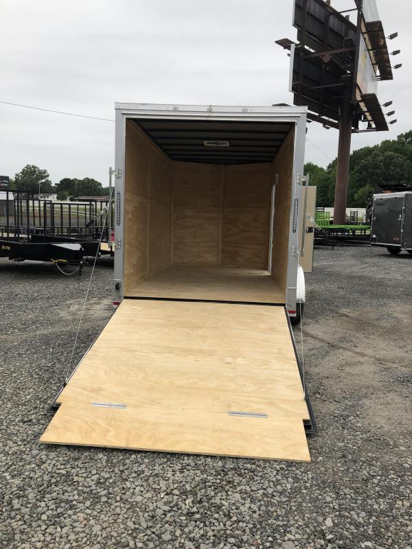 2019 Doolittle Trailer Mfg 2019 DOOLITTLE RAZORBACK 7X14TA Silver Ramp Door Enclosed Cargo Trailer