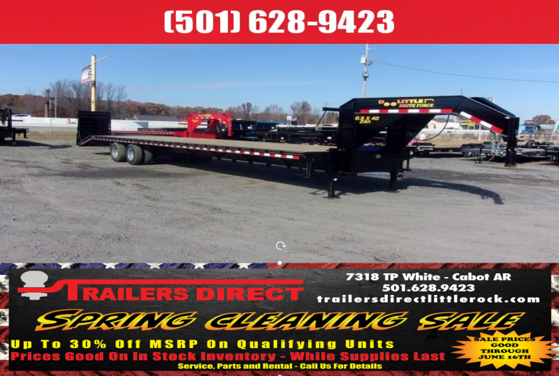 BLOWOUT!! 2019 Doolittle Trailer Mfg Brute Force 102x40 26k Flatbed Trailer