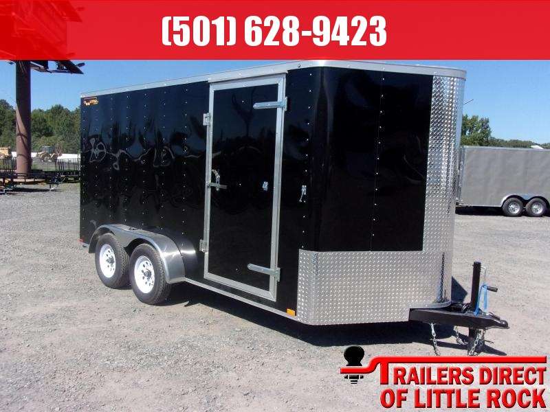 2018 Doolittle Trailer Mfg Bullitt 7x14TA Black Ramp Door Enclosed Cargo Trailer