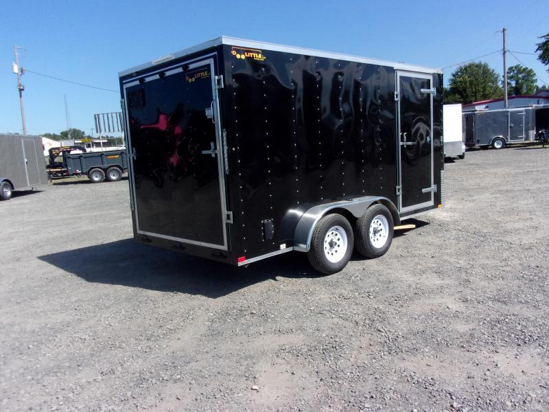 2018 Doolittle Trailer Mfg Bullitt 7x14TA Black Ramp Door Enclosed Cargo Trailer