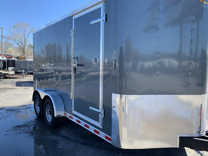 2019 Doolittle Trailer Mfg Bullitt 7x14TA 10k Gray Ramp Door Enclosed Cargo Trailer