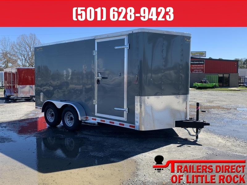 2019 Doolittle Trailer Mfg Bullitt 7x14TA 10k Gray Ramp Door Enclosed Cargo Trailer