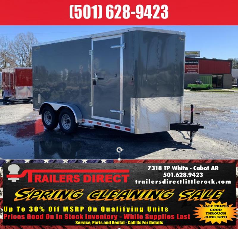 RED TAG SALES EVENT!! 2019 Doolittle Trailer Mfg Bullitt 7x14TA 10k Gray Ramp Door Enclosed Cargo Trailer