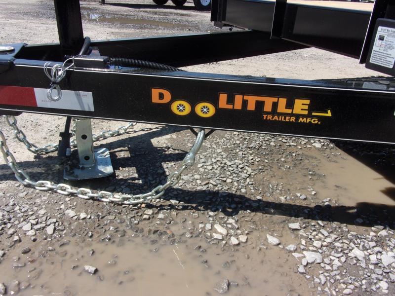 2019 Doolittle Trailer Mfg CF 84x18 TA 10k Self Store Ramps Equipment Trailer