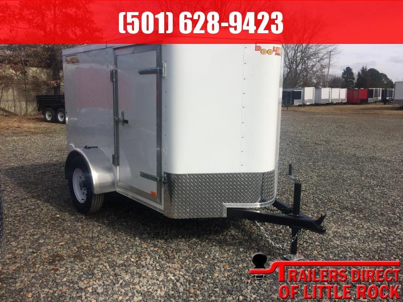2019 Doolittle Trailer Mfg Bullitt 5x8 White Ramp Door Enclosed Cargo Trailer
