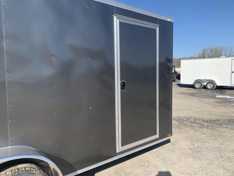 2019 Doolittle Trailer Mfg Razorback 7X16TA Charcoal Ramp Door Enclosed Cargo Trailer
